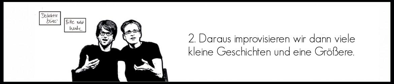 Beschreibung unserer Show Teils 3 Action+Drama Improtheater Leipzig